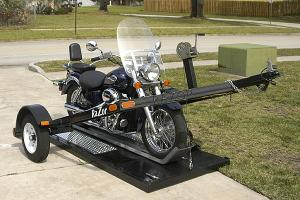 The Razor Motorcycle Trailer Ground Loading Motorcycle